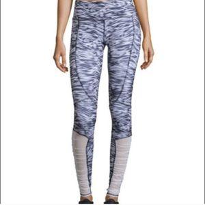 Alo yoga mono wave blue white leggings mesh